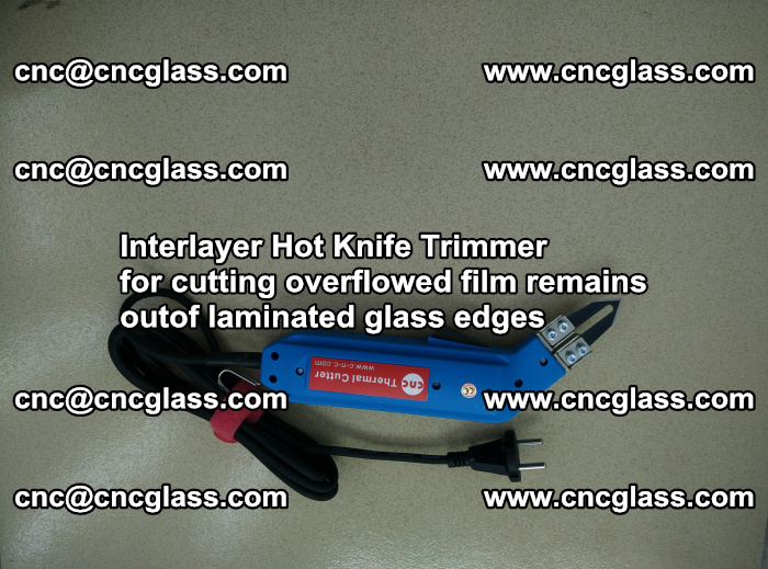 Interlayer Hot Knife Trimmer for cutting overflowed film remains of SentryGlas® safety glass interlayer (1)