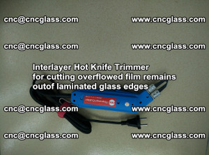 Interlayer Hot Knife Trimmer for cutting overflowed film remains of SentryGlas® safety glass interlayer (2)