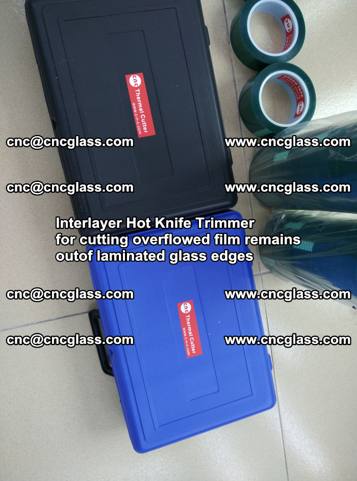 Interlayer Hot Knife Trimmer for cutting overflowed film remains of SentryGlas® safety glass interlayer (43)