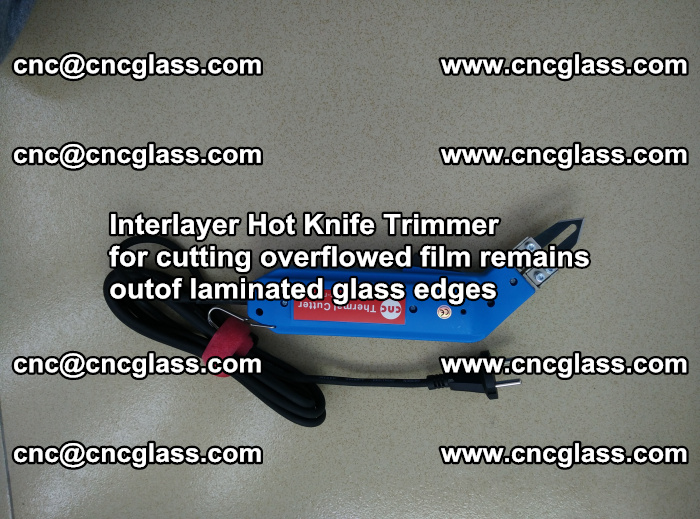 Interlayer Hot Knife Trimmer for cutting overflowed film remains of SentryGlas® safety glass interlayer (48)