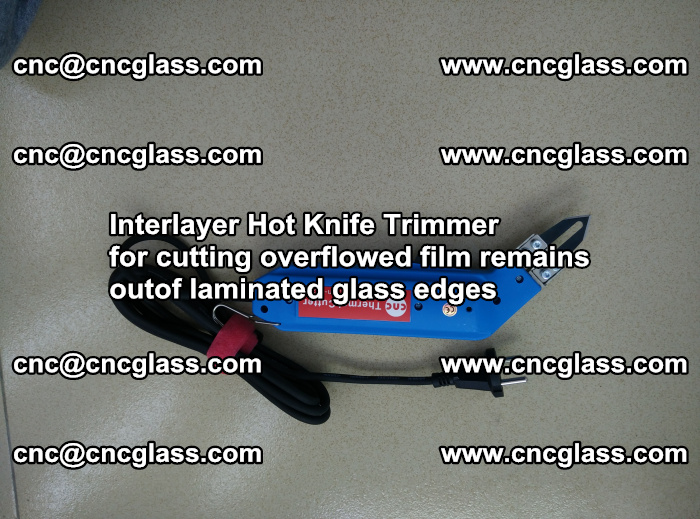Interlayer Hot Knife Trimmer for cutting overflowed film remains of SentryGlas® safety glass interlayer (49)