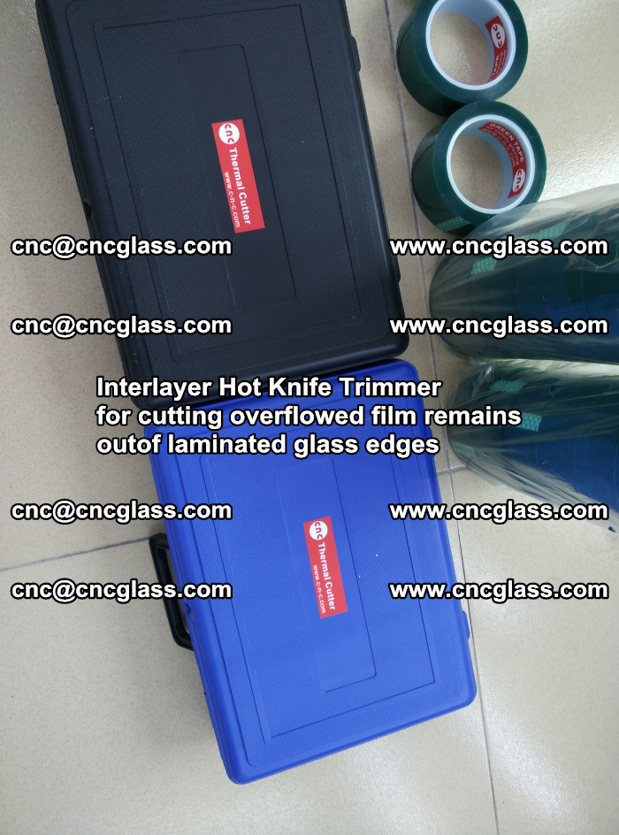 Interlayer Hot Knife Trimmer for cutting overflowed film remains of SentryGlas® safety glass interlayer (41)