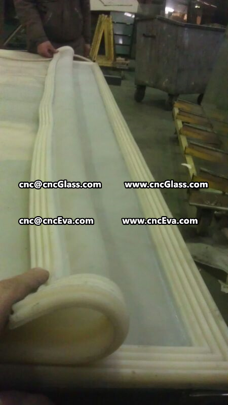 Silicone bag for EVA interlayer laminated glass vacuuming