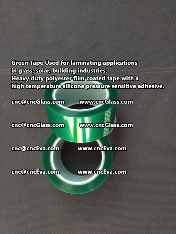 High temperature Polyester PET Green Tape for Powder Coating (2)