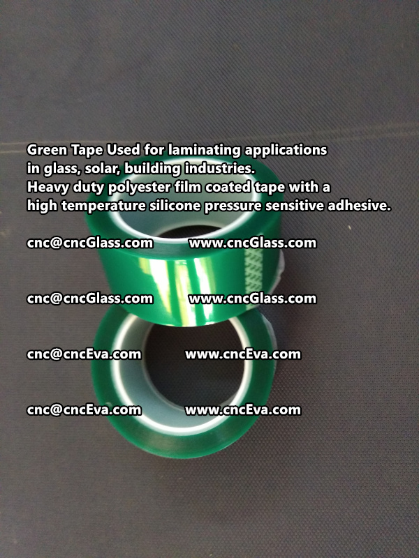 High temperature Polyester PET Green Tape for Powder Coating (4)